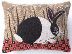 Hooked Pillows Country Decor | Country Cottage Decor