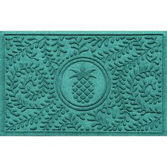 Bungalow Flooring Aqua Shield Boxwood Pineapple Doormat & Reviews | Wayfair