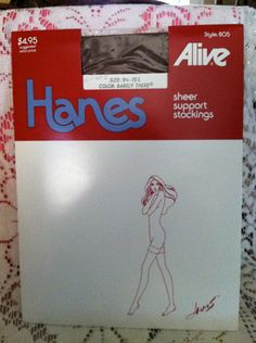 Hanes Alive sheer support seamless stockings  by ScarlettsFancies, $12.00