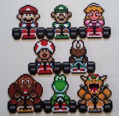 Perler Mario Kart set from patterns found on Pinterest.