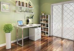 A18 Modern Office Desk in High Gloss White by J&M
