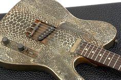 Guitare électrique JAMES TRUSSART Steelcaster (RW) - rust o matic snakeskin @pourlesmusiciens.com