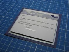 Purple & silver Thank You card - Han-crafted (c)
