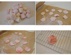 marshmallow roses tutorial