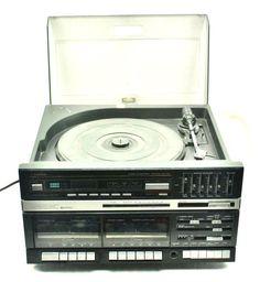 Vtg Fisher MC-723 LP Record Player AM FM Radio Tape Recorder Cassette Player #Fisher
