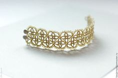 Yellow tatted bracelet