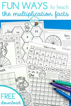 Help your kids remember the multiplication tables with this massive set of multiplication games and activities. Head on over to the FREE resource library to grab a pack of two times tables games.