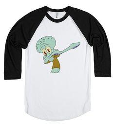 Squidward Dabbing (Baseball Tee) #spongebob #squidward #dab #dabbing #dancing #meme #funny #lol