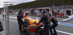 "Famous ""The floor is lava""-bike change by Marc Marquez on TT Assen 2014 #MotoGP"