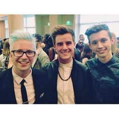 Tyler Oakley, Connor Franta, and Troye Sivan