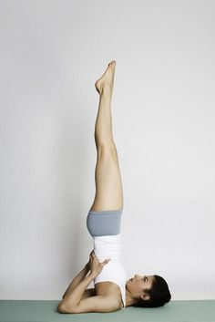 Shoulder Stand: best to do this with a blanket under your shoulders so there's less strain in your neck