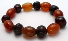 Brown & Amber Agate Bead Bracelet Stretchy Beaded Fashion Gemstone Jewelry | Jewelry & Watches, Vintage & Antique Jewelry, Costume | eBay!