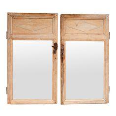 Pair of Antique Door Panel Mirrors : On Antique Row - West Palm Beach - Florida