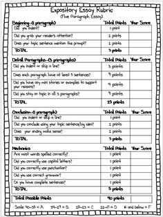 Use this rubric to easily and consistently grade your students' expository essays. $1