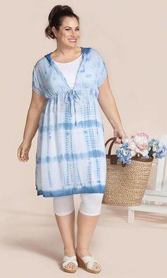 Natalie Cover Up / MiB Plus Size Fashion for Women / Summer Fashion / Plus Size Swimwear http://www.makingitbig.com/product/5225