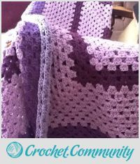 EDITOR'S CHOICE (02/17/2016) Purple blanket by Cheryl1966 View details here: http://crochet.community/creations/4212-purple-blanket