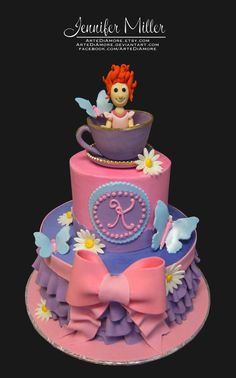 Fancy Nancy Cake