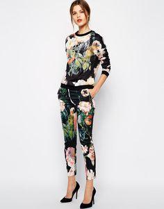 Ted Baker   Ted Baker Pants in Opulent Bloom Print at ASOS