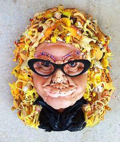 Australian artist Freya Jobbins makes amazing art with old toys. Giuseppe Arcimboldo reincarnated in the NSW bush.