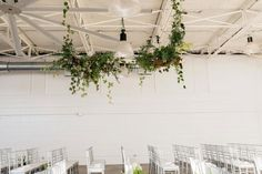 Hanging greenery | Airship37 Wedding Toronto | Olive Photography