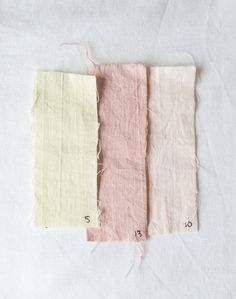 Natural dyes: rosemary, lavender and beetroot. Pastel shades.