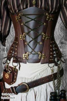 Steampunk corset belts on Etsy. inter changeable centre front panels for…