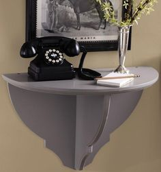wall table for bedside tables in small bedroom