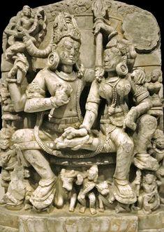 Shiva and Parvati,The National Museum of Oriental Art Ancient Indian Art, Ancient Art, Asian Sculptures, Indian Art Gallery, Apocalypse Art, Hindu Statues, India Painting, Kali Goddess, Cemetery Art
