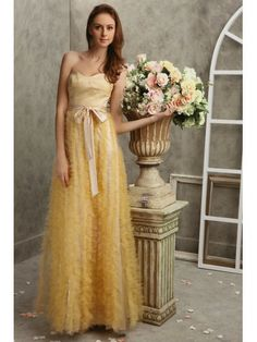 Tulle Strapless Overlay Bodice A-line Prom Dress