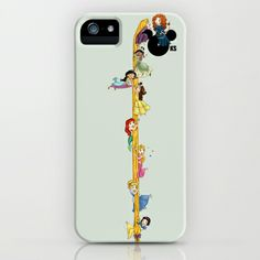 Welcome Princess Merida  iPhone & iPod Case by Katie Simpson  - $35.00 Snow White, Cinderella, Aroua, Ariel, Belle, Jasmine, Tiana and Rapunzel are Welcoming Princess Merida to the Disney Princess Line up.