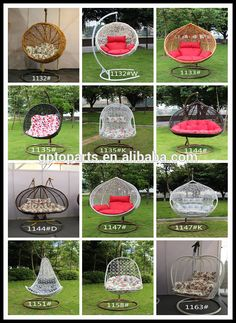 Black Rattan Swing Chair Hanging Chair / Rattan Egg Swing Chair ...