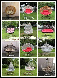 Black Rattan Swing Chair Hanging Chair / Rattan Egg Swing Chair ...