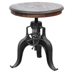 Shop Joss & Main for your Nelly Side Table. Showcasing an adjustable-height top and cabriole pedestal base, this industrial-chic side table adds eye-catching appeal to your living room or home library.