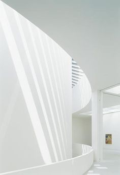 Interior of the Pinakothek der Moderne, München. Needs waterwall to be added
