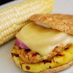 Spicy Grilled Pineapple Chicken Burger