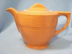Hall China Orange Tangerine Adele Teapot | eBay