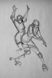 roller derby girl drawings - Google Search