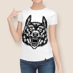 Discover «wolf wild», Limited Edition Women's All Over T-Shirt by ngattboy - From $49 - Curioos