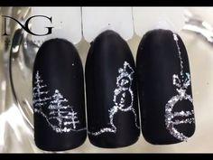Снеговик на ногтях: новогодний маникюр / New Year's manicure