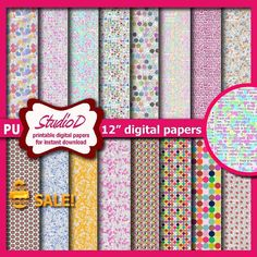 SALE - Easter eggs digital paper 12x12 paper pack Grungy Easter Scrapbook Rustic premade pages Gift wrap for instant download by StudioDprint