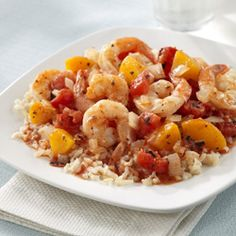 Shrimp with Peach 'Salsa' ... a light and delicious dinner in just 20 minutes.