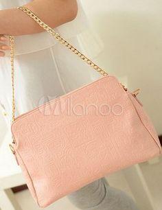 Sweet Chain Solid Color PU Leather Women's Shoulder Bag - Milanoo.com
