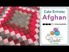 How to Crochet Entrelac Afghan: Caron Cakes - YouTube