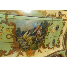 19th Century Venetian Painted Commode at 1stdibs via Polyvore