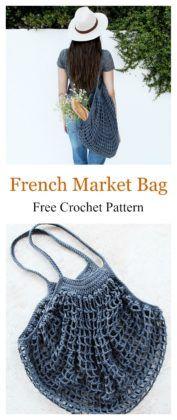 French Market Mesh Bag Free Crochet Pattern