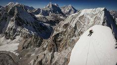 "Conrad Anker climbing Lunag Ri in the Himalayas, Nepal. - Conrad Anker climbing Lunag Ri in the Himalayas, Nepal. Servus TV / Mammut / Red Bull Content Pool <a href=""https://www.redbullphotography.com/editors-choice/AP-1M78H4XBN1W11"">Red Bull Photography</a>"