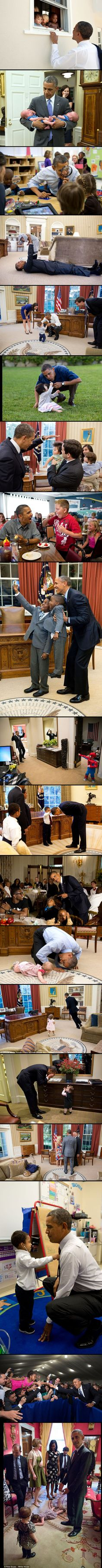 Obama is really good with kids