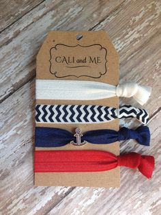 Love the embellishment on the hair ties. Charmed Hair Ties Bracelets. Multi colored by CaliandMeBoutique, $7.95