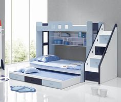 12 Ideas Modern Bunk Beds - http://www.buylandingpages.com/12-ideas-modern-bunk-beds/ : #FurnitureDesigns Think carefully about best bedroom design with modern bunk beds, they will be good in its feature and function for small room size. The type modern bunk beds provide a fun touch to the room and are a perfect solution to save space. This is 12 berths for ideas inspire you and appliques decorate y...