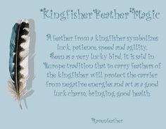 Kingfisher feather magic: add love, happiness, peace and connecting to the element of Water.